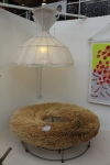 Fabric light and hay seat New Designers 2011